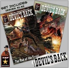 The Devil's Back Set 1 & 2 Regular Covers | Etsy Old West, Science Fiction, Devil, Steampunk, Old Things, Comic Books, Adventure, Shit Happens, Comics