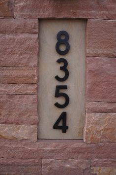 Address Numbers | Rose and Buff Flagstone Entry Monument | Boulder, Colorado | by Prolithic Designs