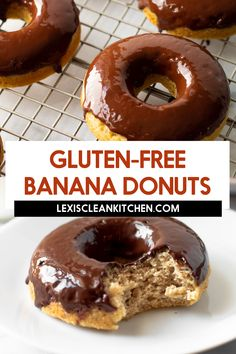 Lexi's Clean Kitchen | Healthy Banana Doughnuts Gluten Free Recipes For Breakfast, Gluten Free Breakfasts, Healthy Dessert Recipes, Yummy Snacks, Yummy Food, Desserts, Healthy Baking, Healthy Eats, Donut Recipes