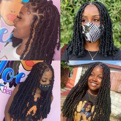 Faux Locs Hairstyles, Weave Ponytail Hairstyles, Braided Hairstyles For Black Women, Baddie Hairstyles, African Braids Hairstyles, School Hairstyles, Black Girl Braids, Braids For Black Hair, Girls Braids