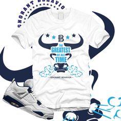 Shirt to match Jordan Legend Blue Columbia 4 IV  Greatest Bull - #iGNORANTBEHAVIOR #GraphicTee #sneakertees #sneakerhead www.ignorantbehavior.com