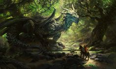 pkmike:  Hey guys :) here's a dragon's Post here's some recent stuff i've been doing, the last one is a personal piece I've been working on between work stuff, the dragon is known as Joseph, the ancient forest dragon ehehcheers!Mike   ;-;