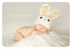 Bunny hat for newborn on etsy.... melt my heart!