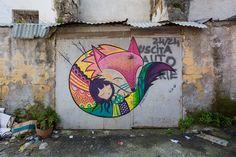 Art Of Beauty, Mural Wall Art, Stencil Art, Outdoor Art, Street Art Graffiti, Public Art, Urban Art, Doodle Art, Cute Art