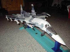017 70cm Su 34 fighter bomber paper model PDF File