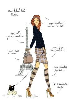 'Do it in Paris - Marni', by illustrator and fashionista Angéline Mélin, from the artist's website.