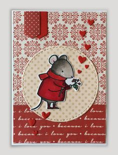 Card tag with hearts heart critters mouse mice MFT Harvest mouse, banners from MFT Blueprints 31 Die-namics #mftstamps Carta Bella Words of Love - JKE