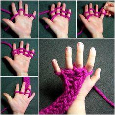 Tricoter avec les doigts! Une activité pour les petits! - Bricolages - Trucs et Bricolages