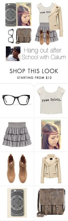 """""""Hanging out with Calum Hood"""" by hawaiianmahomie ❤ liked on Polyvore featuring Spitfire, Wet Seal, H&M, INDIE HAIR and Patricia Nash"""