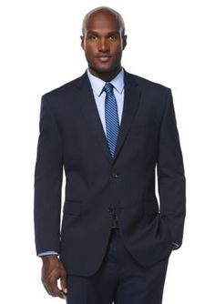 Savane  Classic Fit Travel Intelligence Navy Pinstripe Suit Separate J