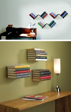Diy cafe shelves shelving cafes and shelves insanely clever diy floating book shelves by daro sp malvernweather Images