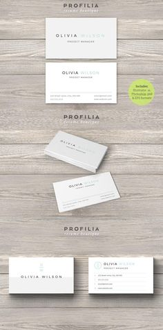 #businesscard #design from Profilia Resume Boutique | DOWNLOAD: https://creativemarket.com/Profilia_Resume/660951-Modern-Business-Card-Template?u=zsoltczigler