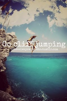 can't wait for summer in spain to cliff jump