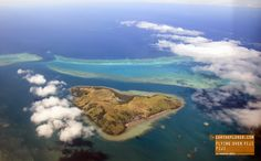 Beautiful Flight Over Fiji