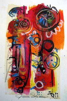Julie Steiner Mixed Media Abstract Collage Art by juliesteinerart