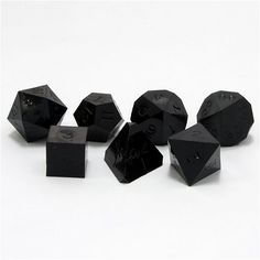 GameScience: Polyhedral Set - Opaque Un-Inked Precision Dice - Coal Black If my soul were dice The Die, Dungeons And Dragons Dice, Chaotic Neutral, Dnd Characters, Tabletop Games, Rogues, Decir No, Board Games, Ideas