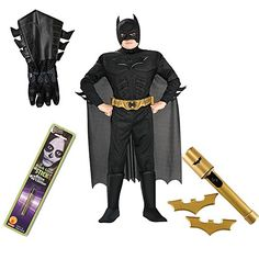 Batman TDKR Kids Costume Gauntlets Makeup Stick Batarangs Safety Light (L) @ niftywarehouse.com #NiftyWarehouse #Batman #DC #Comics #ComicBooks