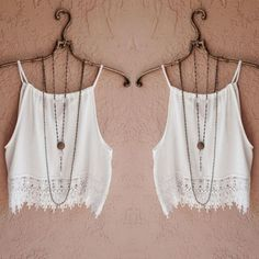 Fashion Sexy Women Lady Summer Lace Sleeveless Camisole Casual Crop Blouse Tops Shirt Y1 #Cheap #Clothing