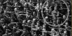 The man who did not salute Hitler.  To this day, his identity is unknown.