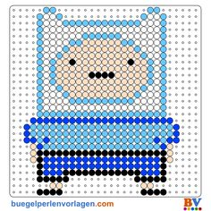 Perler Bead Patterns and Ideas - Free printable patterns to donwnload as PDF. Finn Jake, Abenteuerzeit Mit Finn Und Jake, Beading Patterns Free, Free Pattern, Bead Patterns, Cartoon Network, Adventure Time, Perler Beads, Free Printables