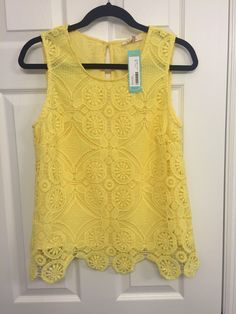 Crochet yellow summer top. Stitch Fix spring/summer 2017. Ask your stylist for this top or something similar. Click on the picture to fill out your style profile. #sponsored