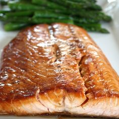 Roasted Salmon with Ginger-Cilantro Vinaigrette | Spoonful