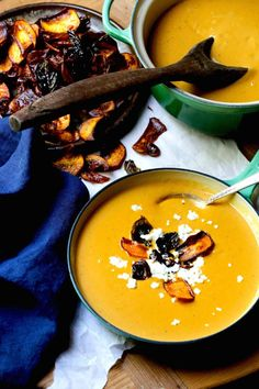 This autumn, try not to use up all your sweet potatoes. Sure, those sweet potato pies and casseroles are always a treat, but this Creamy Sweet Potato Soup will change your life! Those wholesome, creamy notes of sweet potato combine perfectly with. Sweet Potato Soup, Potato Pie, Roasted Sweet Potatoes, Vidalia Onions, Soup Crocks, Gordon Ramsay, Fodmap, Soup And Salad, Soups And Stews