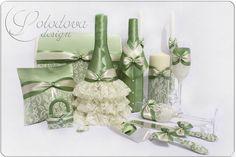 """Купить Свадебные аксессуары """"Феерия"""" в фисташковом цвете - свадебные аксессуары, свадебный аксессуар, аксессуары для свадьбы"""