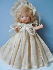 Vintage 1940 Vogue Ginny Toddles BRIDE Doll Composition Painted Eyes Beautiful!