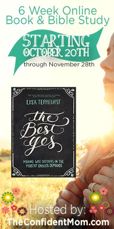 Online Book & Bible Study - FREE to participate!  Our study starts October 20, 2014 - grab a copy of the book now!!  | TheConfidentMom.com  amzn.to/1u9yWeU