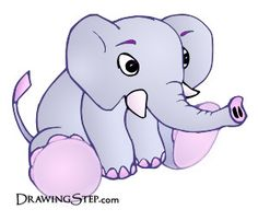 Cute Cartoon Elephants   Cute Cartoon Elephant Drawings