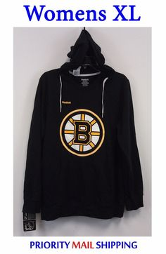 28.00 Boston Bruins Reebok Womens Hoodie XL Black Pullover NWT Soft Fleece  Lined NHL  Reebok 4ec91c05d