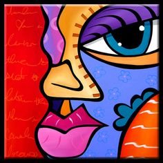 The Good Word - Original Large Abstract Contemporary Modern POP Art Painting by Fidostudio