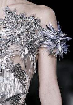 crystal dress, futuristic fashion