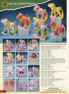 Early My Little Pony toys ads from catalog. 1980s Christmas, Old Christmas, Christmas Catalogs, Vintage Christmas, Christmas Presents, 1980s Toys, Retro Toys, Vintage Toys 80s, Retro Vintage