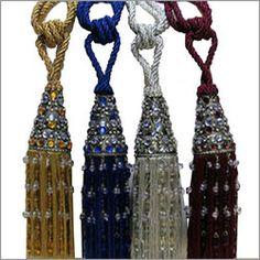 Tiebacks, Tassels, Curtain tassels, Curtain tiebacks, draperies, etc. Berber Trading Co.