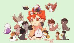 Haikyuu Manga, Haikyuu Funny, Haikyuu Fanart, Anime Chibi, Fanarts Anime, Anime Characters, Osomatsu San Doujinshi, Wallpapers Naruto, Cute Tumblr Wallpaper