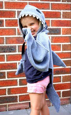 The Shark  Handmade Children's Costume by sparrowandbcostumery