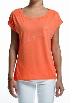 la femme complete pocket tee orange sol angeles www.shoplusso.com