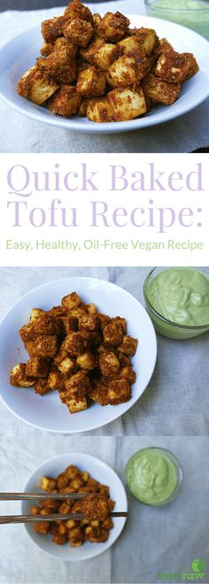I absolutely love this quick baked tofu recipe. It's super quick and easy to make, healthy and oil-free - packed with protein and nutrition. This is literally my favorite way to eat tofu!