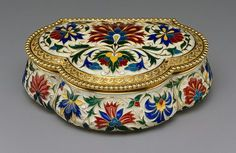 💘💘 Russian Antique Enameled Box. 💘💘