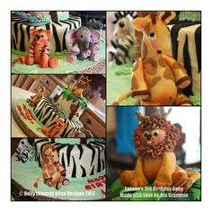 Jungle Party Birthday Cake