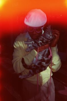 Tyler the Creator (as Jefferson from Loiter Squad?) with cat Tyler The Creator Wallpaper, Odd Future Wolf Gang, Races Fashion, Fashion Art, Passion Project, Sing To Me, Flower Boys, Wall Collage, Vintage Dolls
