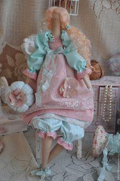 """Купить Кукла в стиле Тильда """"Мятный поцелуй"""" - мятный, розовый, нежность, кукла ручной работы"""