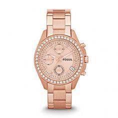 Fossil Armbanduhr – Decker Chronograph Rosegold – in rosa – Armbanduhr für Damen