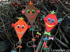 Dráčková dekorace - zápich do květináče   i-creative.cz - omalovánky k vytisknutí a výtvarné nápady Bookmarks Diy Kids, Diy For Kids, Crafts For Kids, Kites Craft, Autumn Crafts, Craft Patterns, Drake, Diy And Crafts, Matilda