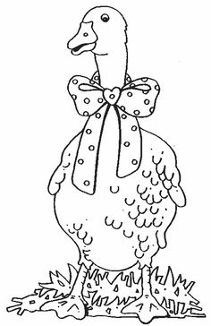 Hedgies surprise coloring pages ~ 38 Best Goose coloring pages and embroidery images ...