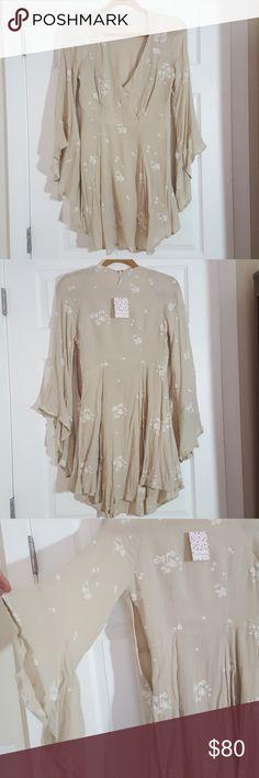 Free People Jasmine Embroidered Dress Almond New with tags free people Jasmine Embroidered Dress in almond color size 2. Free People Dresses Long Sleeve