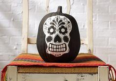 Craft Painting - Sugar Skull Pumpkin