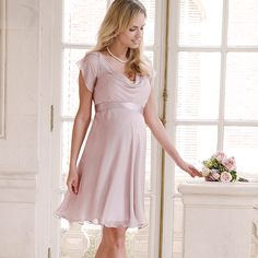 Lizzie Seidenkleid rose aus der Kategorie Kleider Kurzarm von Mamarella - Details